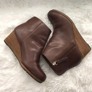 Dr. Scholl's Copper brown Wedge booties